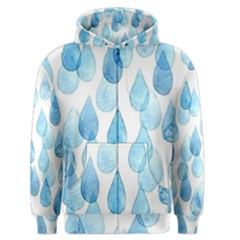 Rain Drops Men s Zipper Hoodie by Brittlevirginclothing