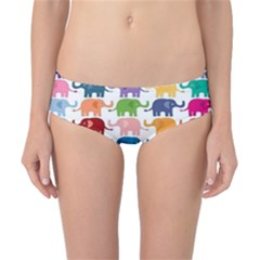 Colorful Small Elephants Classic Bikini Bottoms by Brittlevirginclothing
