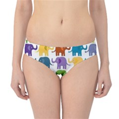 Colorful Small Elephants Hipster Bikini Bottoms by Brittlevirginclothing
