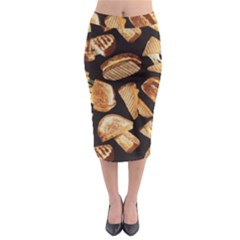 Delicious Snacks Midi Pencil Skirt by Brittlevirginclothing