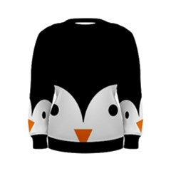 Cute Pinguin Women s Sweatshirt by Brittlevirginclothing