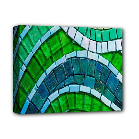 Green Deluxe Canvas 14  X 11  by Jojostore