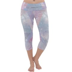 Pastel Colored Crystal Capri Yoga Leggings by Brittlevirginclothing