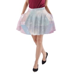 Pastel Colored Crystal A-line Pocket Skirt by Brittlevirginclothing