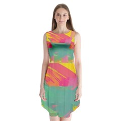 Paint Brush Sleeveless Chiffon Dress   by Brittlevirginclothing