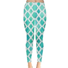 Blue Mosaic Classic Winter Leggings by Brittlevirginclothing