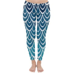 Blue Scale  Classic Winter Leggings by Brittlevirginclothing