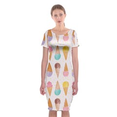 Cute Ice Cream Classic Short Sleeve Midi Dress by Brittlevirginclothing