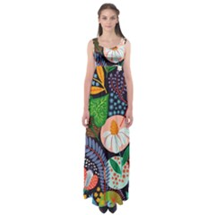 Japanese Inspired  Empire Waist Maxi Dress by Brittlevirginclothing