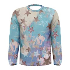 Pastel Stars Men s Long Sleeve Tee by Brittlevirginclothing