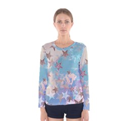 Pastel Stars Women s Long Sleeve Tee by Brittlevirginclothing
