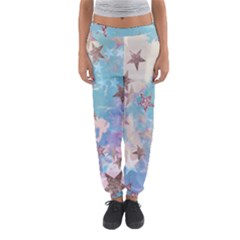 Pastel Stars Women s Jogger Sweatpants by Brittlevirginclothing