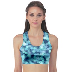 Blue Light  Sports Bra by Brittlevirginclothing