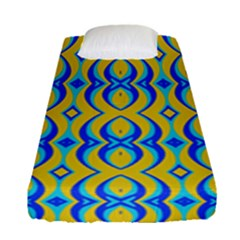 Blue Yellow Fitted Sheet (single Size)