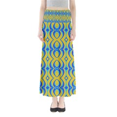 Blue Yellow Maxi Skirts