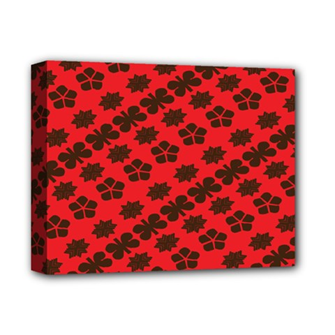 Diogonal Flower Red Deluxe Canvas 14  X 11  by Jojostore