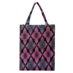 Flower Pink Gray Classic Tote Bag