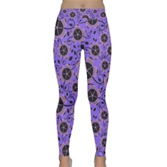 Flower Floral Purple Classic Yoga Leggings