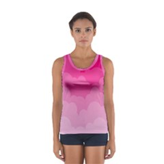 Lines Pink Cloud Women s Sport Tank Top