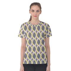 Hearts And Yellow Washi Zigzags Tileable Women s Cotton Tee