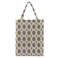Hearts And Yellow Washi Zigzags Tileable Classic Tote Bag