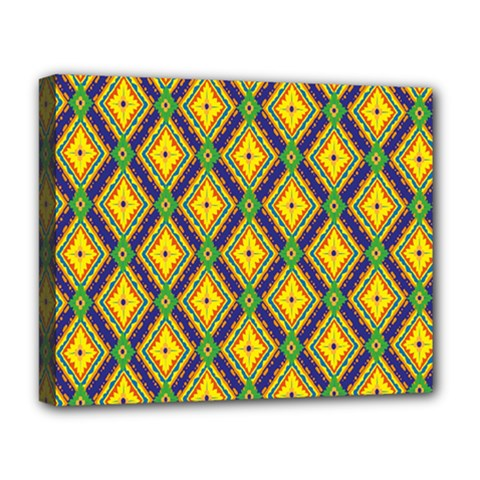 Morocco Flower Yellow Deluxe Canvas 20  X 16   by Jojostore