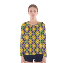 Morocco Flower Yellow Women s Long Sleeve Tee by Jojostore