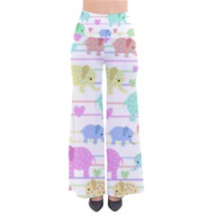 Elephant Pastel Pattern Pants by Valentinaart