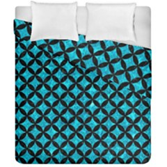 Circles3 Black Marble & Turquoise Marble (r) Duvet Cover Double Side (california King Size) by trendistuff