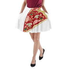 Pizza Slice A Line Pocket Skirt by Valentinaart