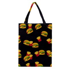 Hamburgers And French Fries Pattern Classic Tote Bag by Valentinaart