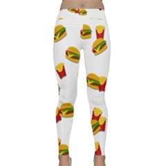 Hamburgers And French Fries  Classic Yoga Leggings by Valentinaart