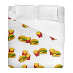 Hamburgers And French Fries  Duvet Cover (full/ Double Size) by Valentinaart