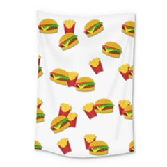 Hamburgers And French Fries  Small Tapestry by Valentinaart