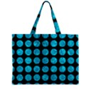 CIRCLES1 BLACK MARBLE & TURQUOISE MARBLE Zipper Mini Tote Bag View1