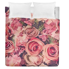 Beautiful Pink Roses Duvet Cover Double Side (queen Size) by Brittlevirginclothing