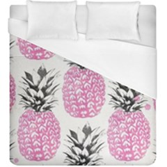 Pink Pineapple Duvet Cover (king Size) by Brittlevirginclothing