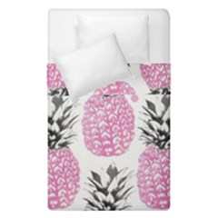 Pink Pineapple Duvet Cover Double Side (single Size) by Brittlevirginclothing