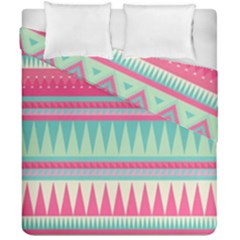 ¨pink Bohemian Duvet Cover Double Side (california King Size) by Brittlevirginclothing