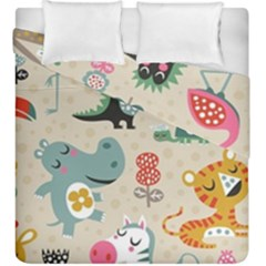 Cute Cartoon Duvet Cover Double Side (king Size) by Brittlevirginclothing