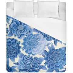 Blue Flower Duvet Cover (california King Size) by Brittlevirginclothing
