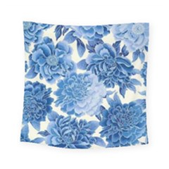 Blue Flower Square Tapestry (small) by Brittlevirginclothing
