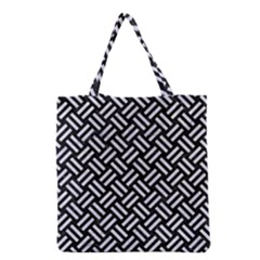 Woven2 Black Marble & White Marble Grocery Tote Bag by trendistuff