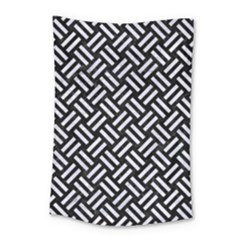 Woven2 Black Marble & White Marble Small Tapestry by trendistuff