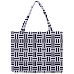 Woven1 Black Marble & White Marble (r) Mini Tote Bag by trendistuff