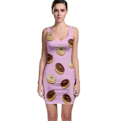 Donuts Pattern   Pink Sleeveless Bodycon Dress