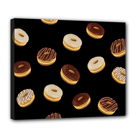 Donuts Deluxe Canvas 24  X 20   by Valentinaart