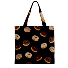 Donuts Zipper Grocery Tote Bag by Valentinaart