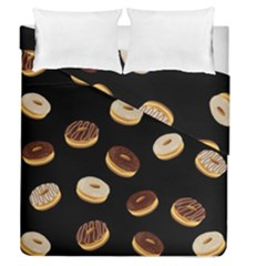 Donuts Duvet Cover Double Side (queen Size) by Valentinaart