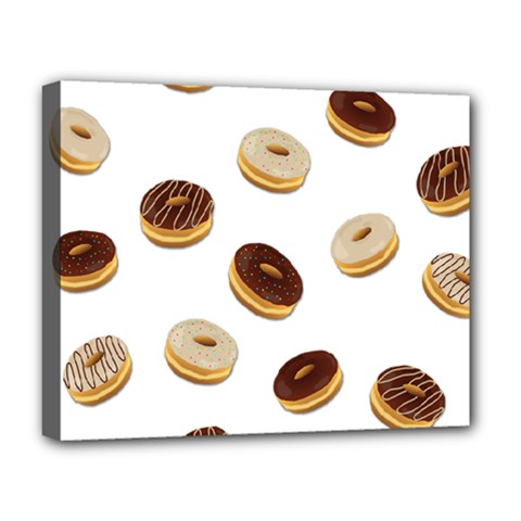 Donuts Pattern Deluxe Canvas 20  X 16   by Valentinaart